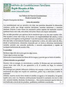 Documento informativo para taller Constelaciones Familiares